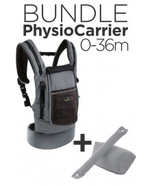 JPMBB - Bundle PhysioCarrier - Tablier Bleu, Poche Marron Glacé + Booster Noir
