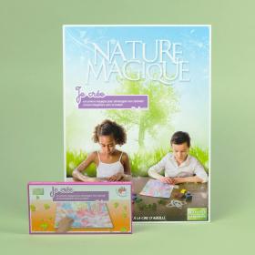"""Coffret """"Je créé"""", 6 craies + 1 livret - Nature Magique"""