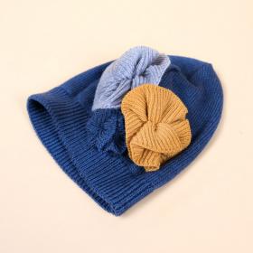Bonnet Flora Navy - Les petites choses