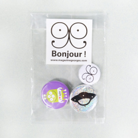 Georges - Pochette de 3 badges Georges Soucoupe